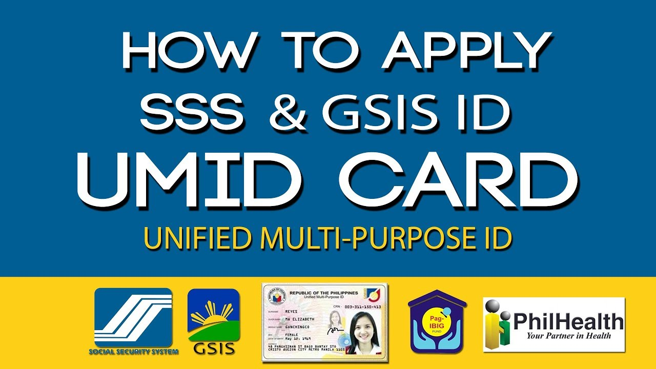 How to Apply SSS and GSIS ID l UMID (Unified Multi-Purpose ID ...