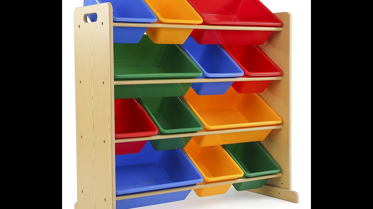 Review Tot Tutors Kids Toy Storage Organizer With 12 Plastic Bins