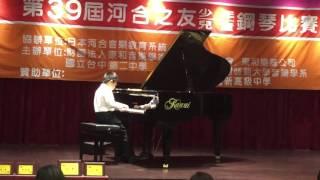 第39屆河合鋼琴初賽北區甲低組第四名廖宏閔