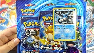 pokemon cards best xy evolutions black kyurem 3 pack opening ever