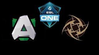 Alliance vs NiP ESL One Katowice 2019 Highlights Dota 2