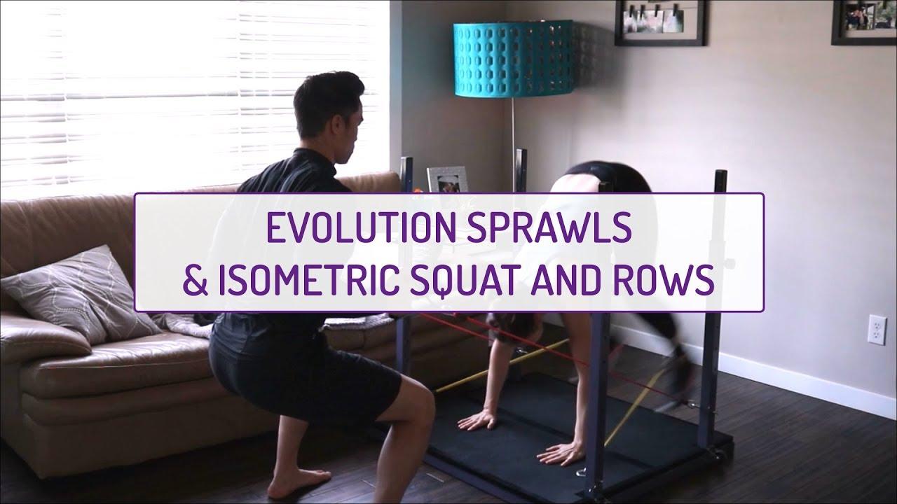 Partner Exercises | Evolution Sprawls & Isometric Squat and Back Rows