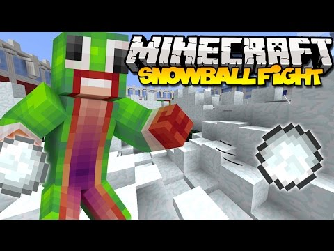 Minecraft: SNOWBALL FIGHT! | New Snow Fight Minigame