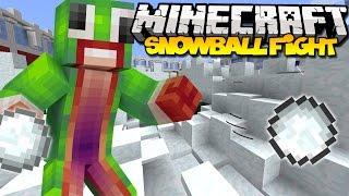 Minecraft: SNOWBALL FIGHT! | New Snow Fight Minigame