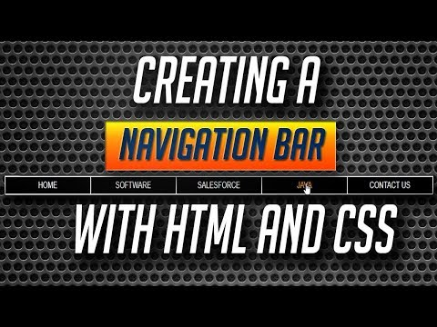 Creating a navigation bar using html and css - HTML/CSS Tutorials in Hindi Part #2