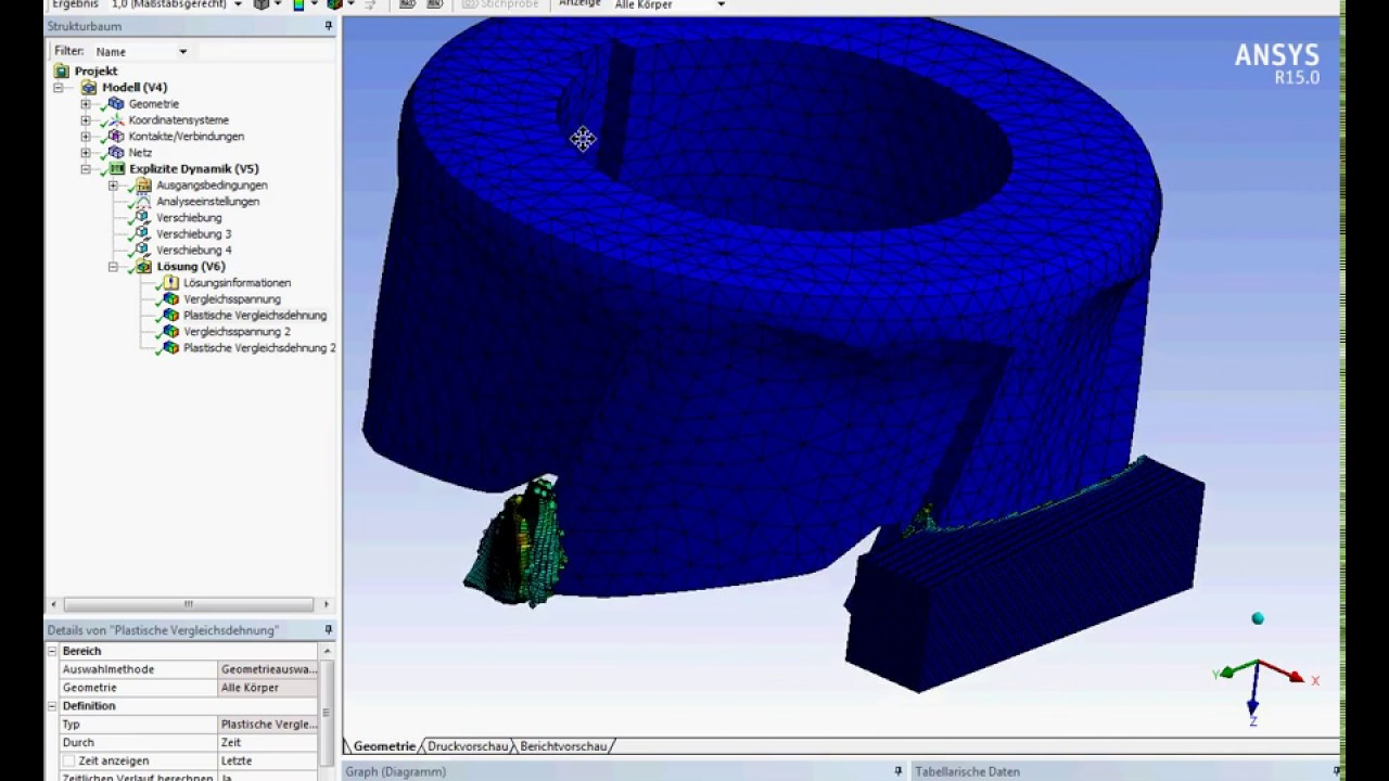 Ansys Workbench explicit dynamics shell end milling of AlSi 1045 ...