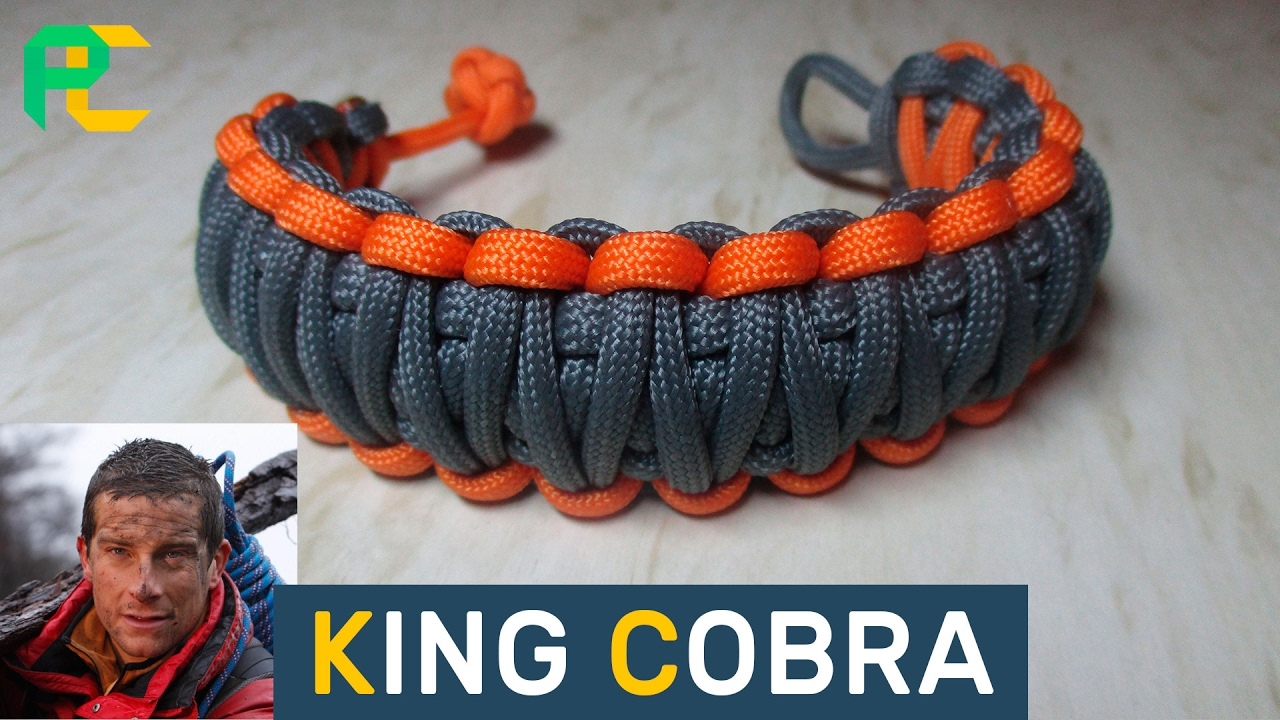 King Cobra Paracord Bracelet Without Buckle Youtube
