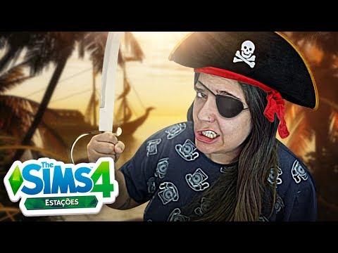 VIREI UMA PIRATA! - The Sims 4 Estações