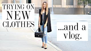 TRYING ON NEW CLOTHES & VLOGGING MY WEEKEND