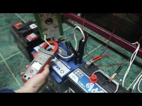 ток при зарядке аккумулятора автомобиля не падает