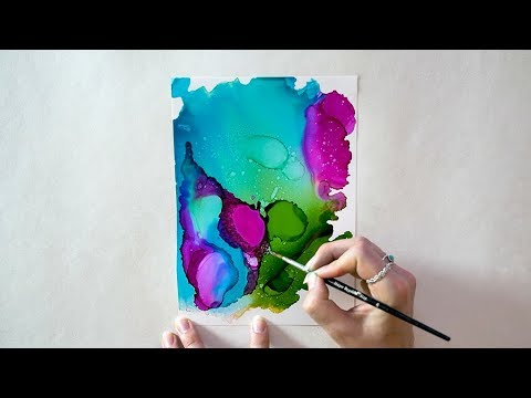 Under The Sea | Painting with Alcohol Ink | Techniques