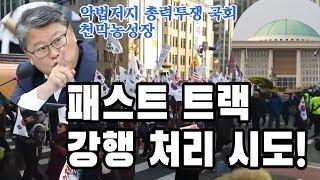 패스트트랙 강행처리, 대구 태극기집회 개최 긴급 기자회견/  우리공화당 인지연 수석대변인.