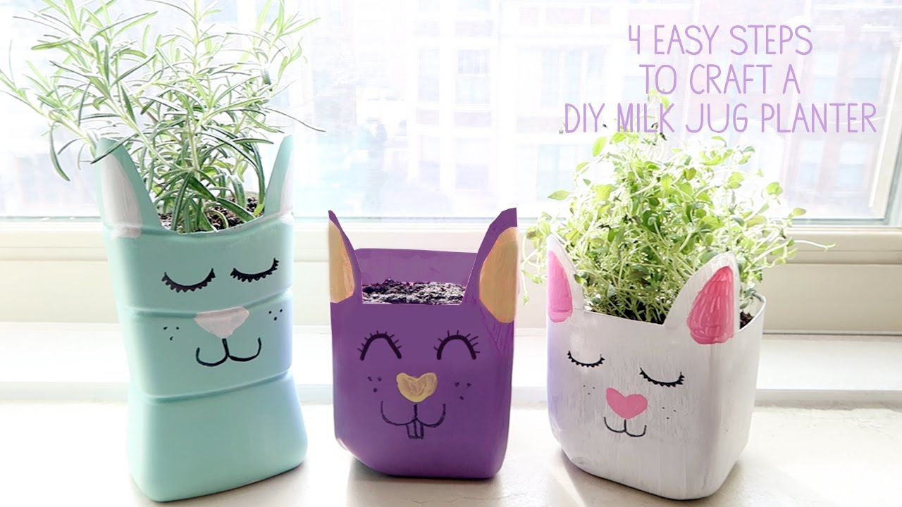 Milk Bottles For Decoration How To Make A Milk Jug Planter Craft For Kids