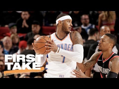 First Take reacts to Carmelo Anthony