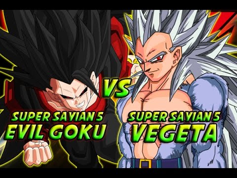 Evil super saiyan 5 goku vs super saiyan 5 vegeta youtube - Goku vs vegeta super saiyan 5 ...