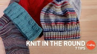 How to Knit in the Round: 7 Tips & Techniques