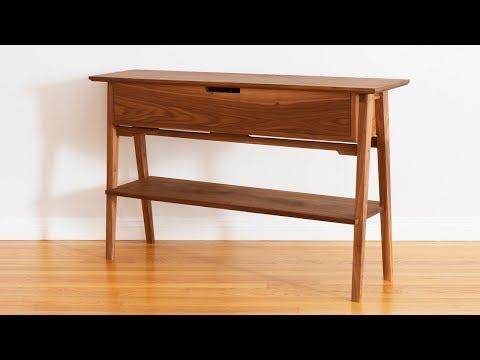 Build A Mid Century Modern Hall Table