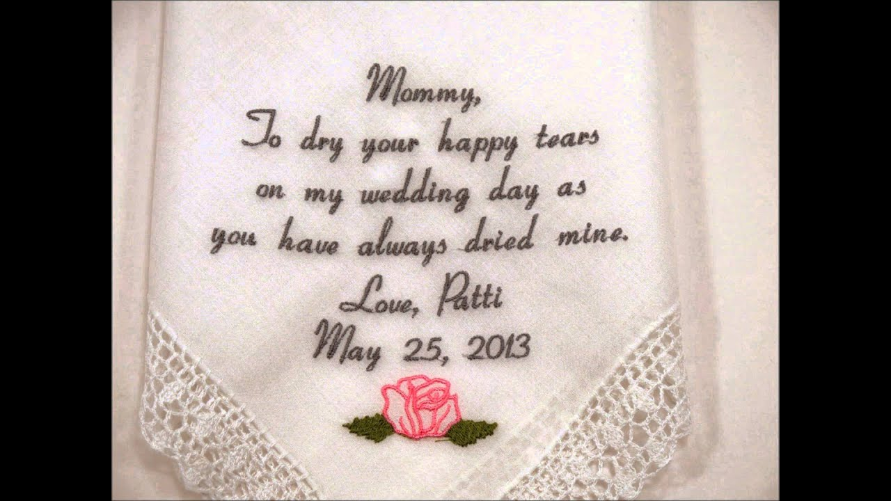Wedding handkerchiefs by napa embroidery youtube