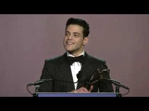 Rami Malek gives acceptance speech for Breakthrough Performance Award at Palm Springs Film Fest