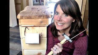 Hand Forged Hook Hammered Copper Toilet Paper Holder