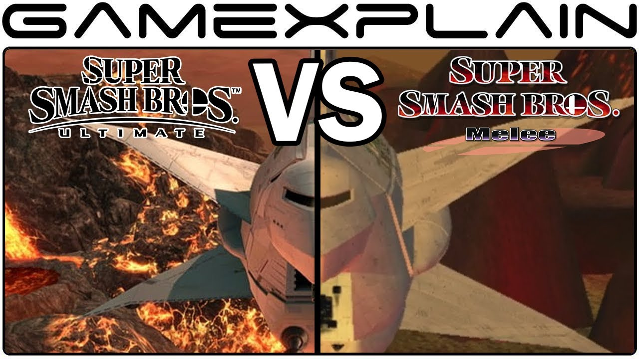 Super Smash Bros  Ultimate/Melee stage graphical comparison