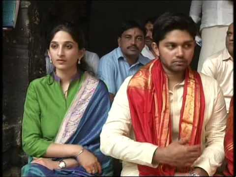 sujana chowdary son daughter in law at tirumala temple