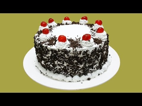 SIMPLE EASY BLACK FOREST CAKE || HOMEMADE!!
