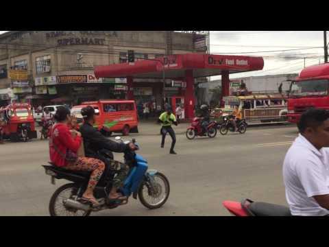 Dancing traffic cop Valencia City Bukidnon Philippines
