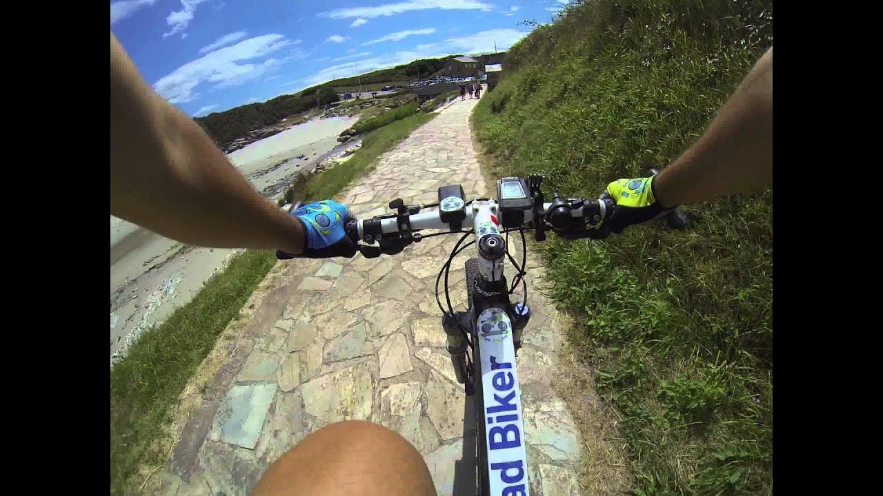 playa de las catedrales en bici