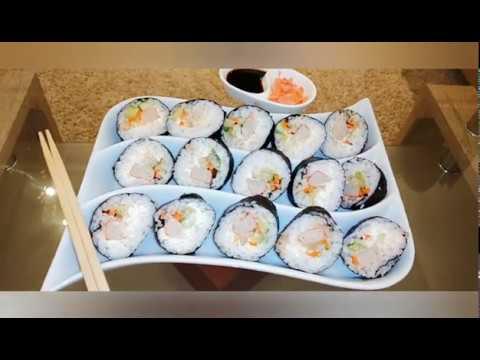 سوشي بطريقة بسيطة و ناجحة بالمنزل Maki sushi fait maison - YouTube