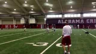 Alabama QB Jake Coker throws pass to Lane Kiffin