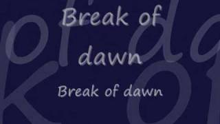 Michael Jackson- Break of dawn lyrics