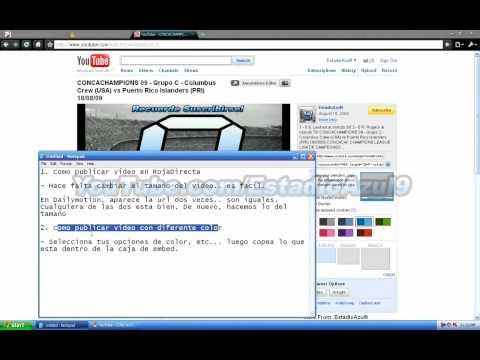 RojaDirecta - Como Publicar Video
