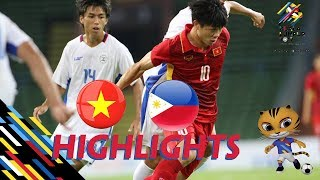 HIGHLIGHT | U22 VIỆT NAM vs U22 PHILIPPINES | BẢNG B SEA GAMES 29