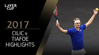 Marin Cilic v Frances Tiafoe match highlights (Match 1) | Laver Cup 2017