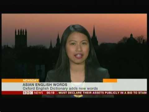 Asian words in Oxford English Dictionary (UK - Singapore & Hong Kong) - BBC News - 13th May 2016