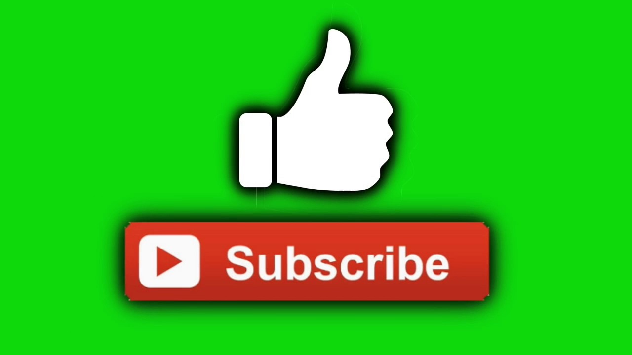 Free Green Screen Like Qnd Subscribe Button Full Hd Youtube