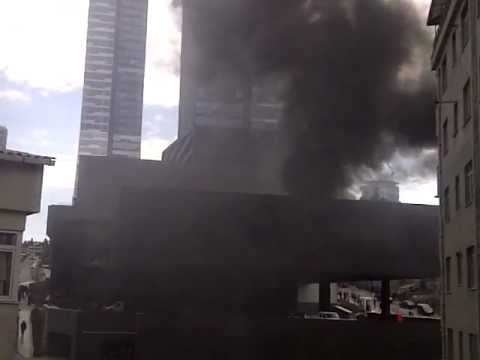 Trump Towers'ta yangın.