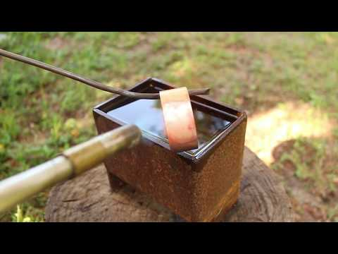 Making a cuff bracelet.