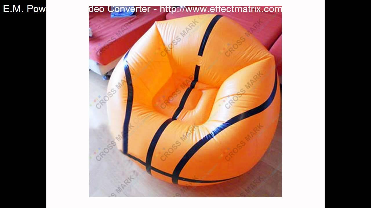 basketball inflatable air sofa chair-Cross Mark Co - YouTube