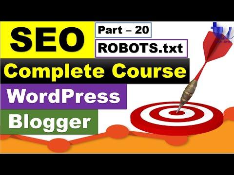 Complete SEO Course for WordPress & Blogger | Part 20 - Robots.txt for WP/Blogger Sites [Urdu/Hindi]