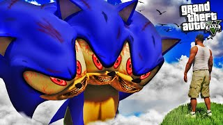 SONIC becomes a 3 HEADED MONSTER in GTA 5 (Scary)