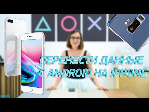 Как перенести данные с Android на Iphone?