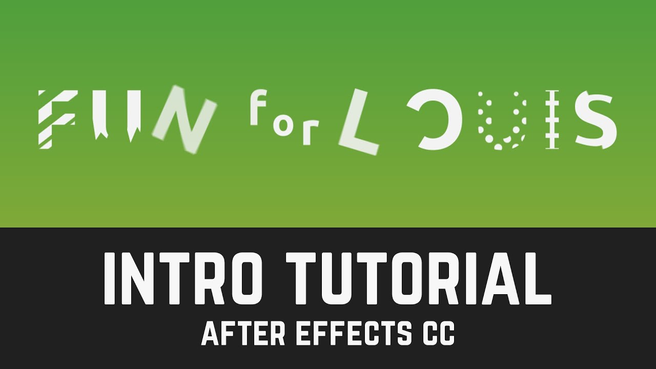 Fun for louis youtube intro tutorial in after effects for After effects youtube intro