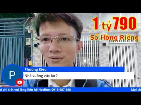 Livestream bán nhà có sổ hồng riêng, hẻm 2805 Phạm Thế Hiển P7 Quận 8 dưới 2 tỷ