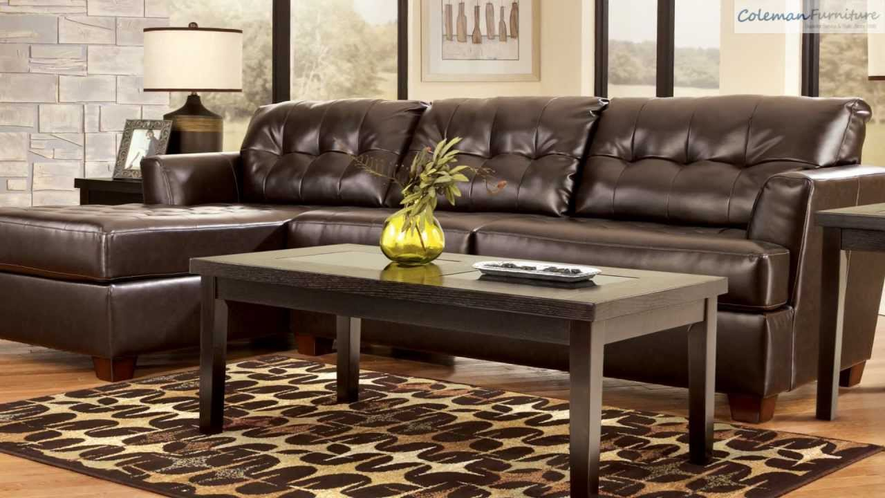 Dixon DuraBlend Chocolate LAF Sectional Collection From Signature Design By Ashley : capote durablend sectional - Sectionals, Sofas & Couches