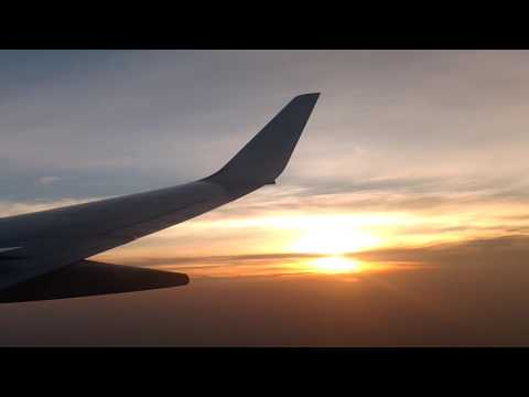 B737| Jet Airways 9W501|Night takeoff from Abu Dhabi and a sunrise approach into Mangalore