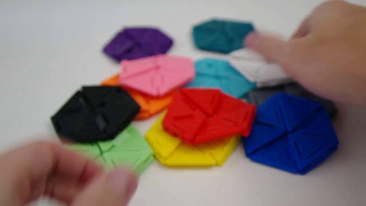 Fidget Toy Hexaflexagon Folding Desk Toy 3d Printed