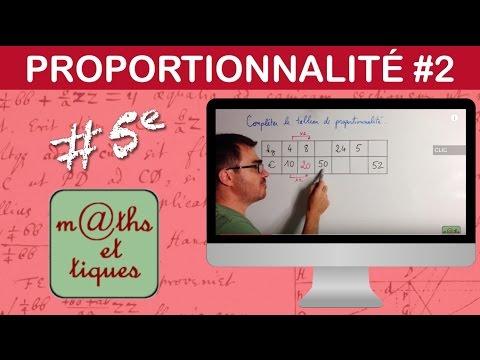Completer Un Tableau De Proportionnalite Cinquieme Youtube