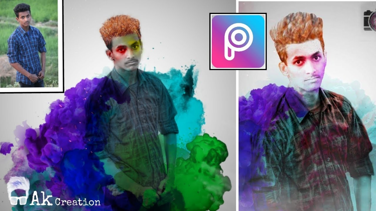 Picsart smoke effect | picsart colour smoke photo edit | smoke manipulation  in picsart